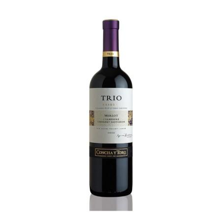 Trio Merlot Carmenere Cab Sauvig 750 ml - Vino Tinto